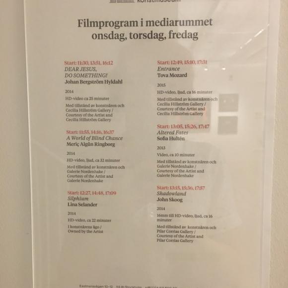 A&F reser för konsten Filmprogram SAN
